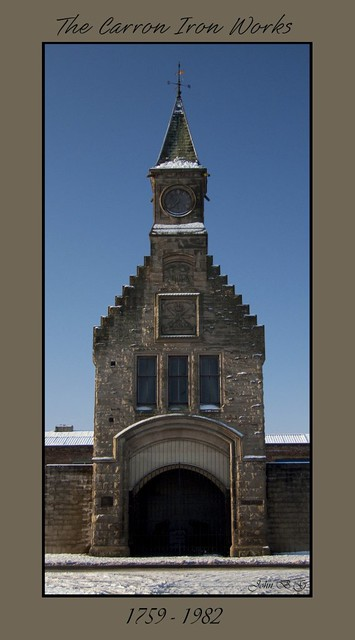 The Carron Iron Works | This clock tower is all that remains