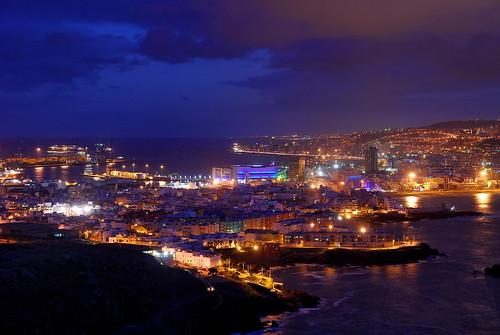 Las Palmas de Gran Canaria at night   by Mariusz_Kucharczyk