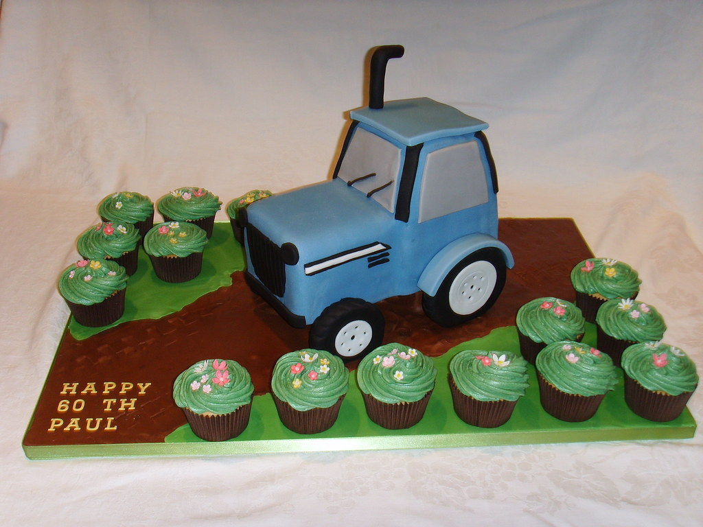 Miraculous Tractor Birthday Cake Massey Ferguson Tractor Birthday Cak Flickr Funny Birthday Cards Online Fluifree Goldxyz