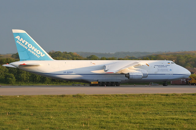 UR-82007 - 1987 build Antonov An-124-100, parked at Cargo West at East Midlands