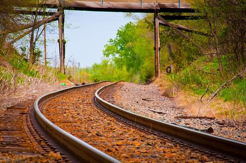 railroad bridge trees landscape rocks rails nikon18200mm nikond300s