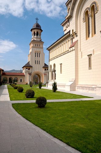 Bell tower at the entrace to the Orthodox Cathedral in Alba Iulia | by Old Photo Profile
