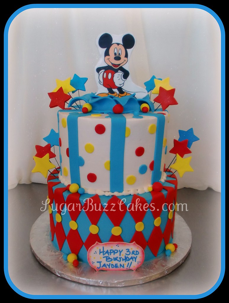 Outstanding Whimsical Mickey Mouse Birthday Cake Carol Flickr Funny Birthday Cards Online Alyptdamsfinfo
