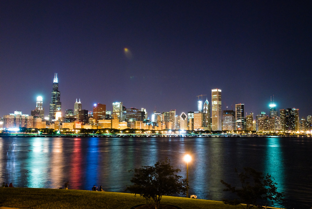 Adler Planetarium Wedding.Adler Planetarium Wedding Reception View Of The Chicago Sk Flickr