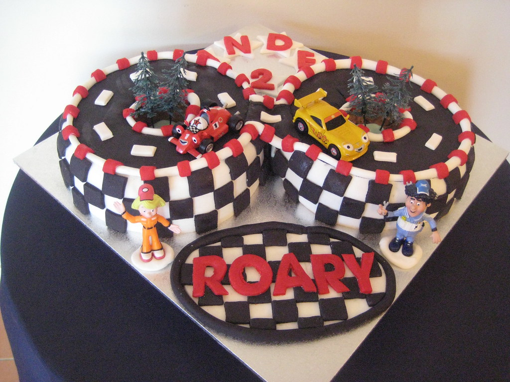 Terrific Roary Racing Car Birthday Cake Chantelle Kahil Flickr Funny Birthday Cards Online Elaedamsfinfo