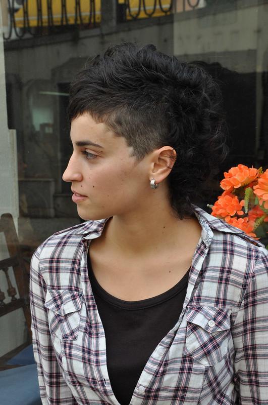curly hair asymmetric