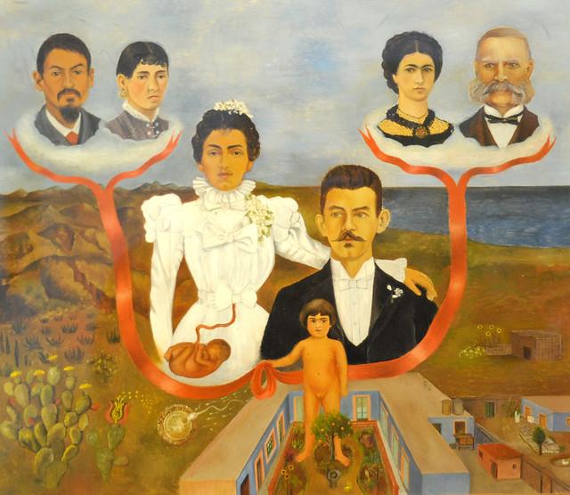 Frida Kahlo - My Grandparents, my Parents, and I - Family Tree, 1936