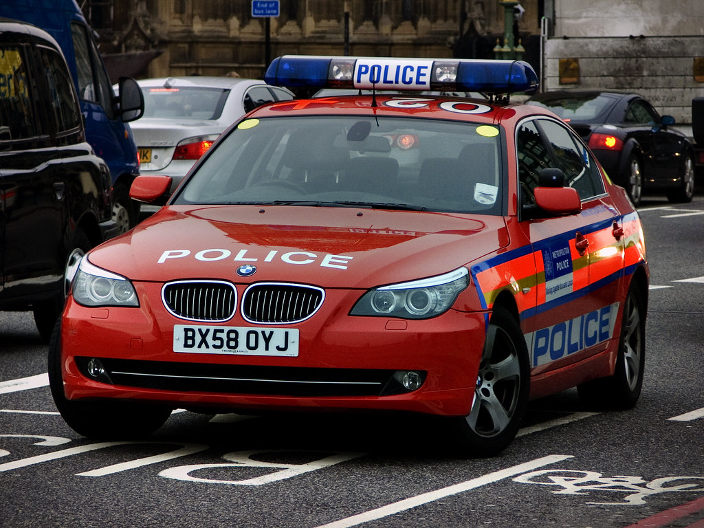 Red Police Car | Taken in Central London | Jonathan Hoitinga
