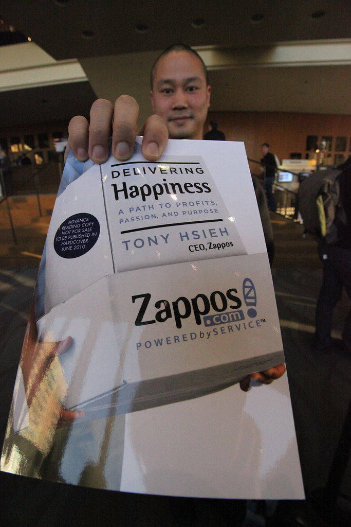 Zappos CEO   Tony Hsieh, CEO of Zappos, shows off his new ...
