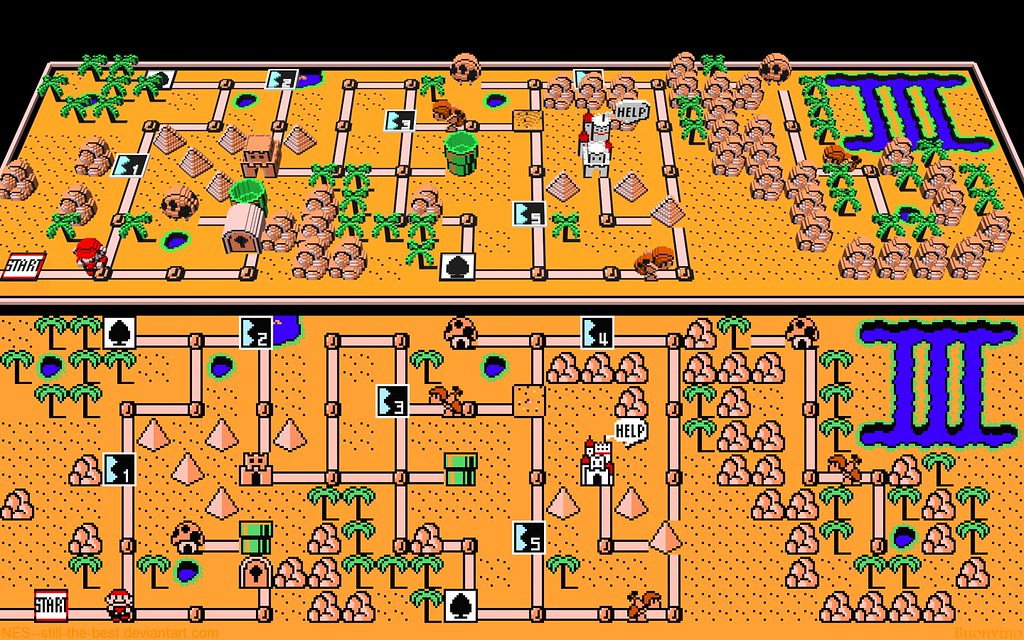 Super Mario Bros 3 World 2 Map Since Flickr Resizes All Flickr