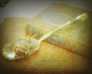 ~Sterling Silver Spoon & Rosebud w/ Texture~ | by ~Romantic~Vintage Home~