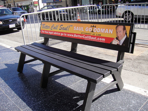 Breaking Bad Screening Lab in Hollywood - Saul Goodman Bench | by Doug Kline