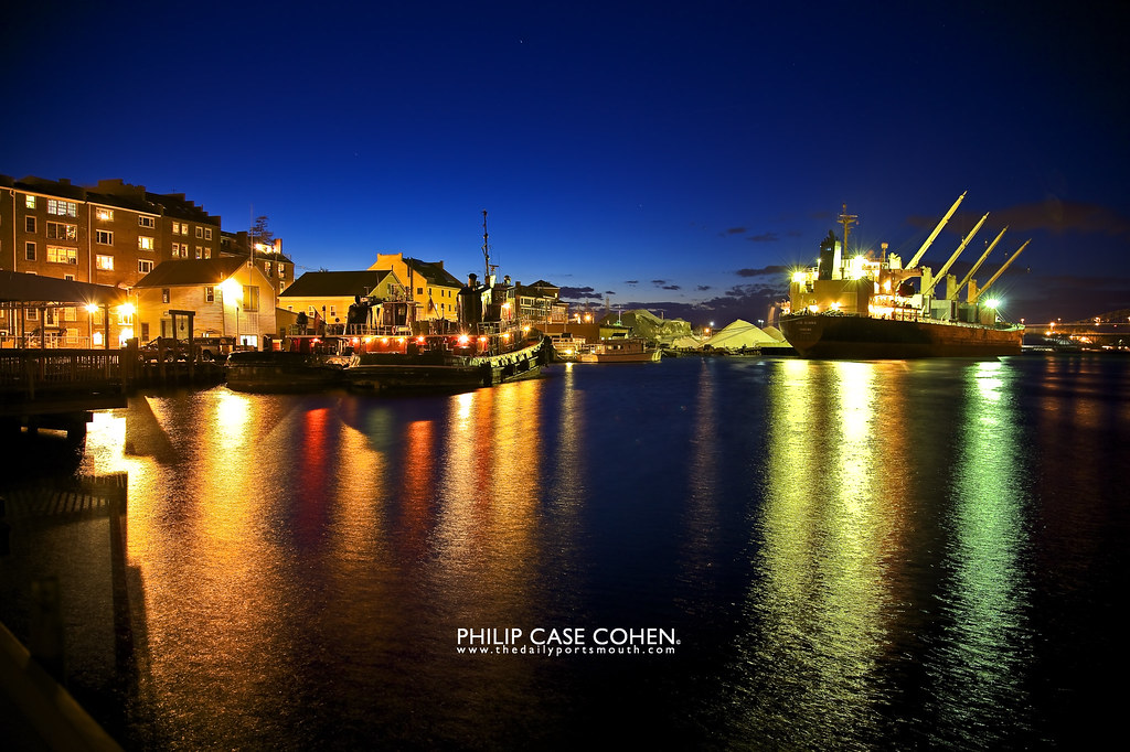 Waterfront at Night by Philip Case Cohen