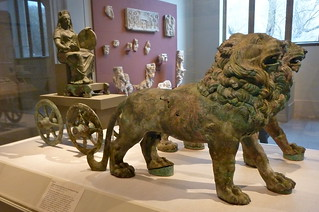 Bronze statue of Cybele on a cart drawn by lions, Metropolitan Museum of Art   by lreed76