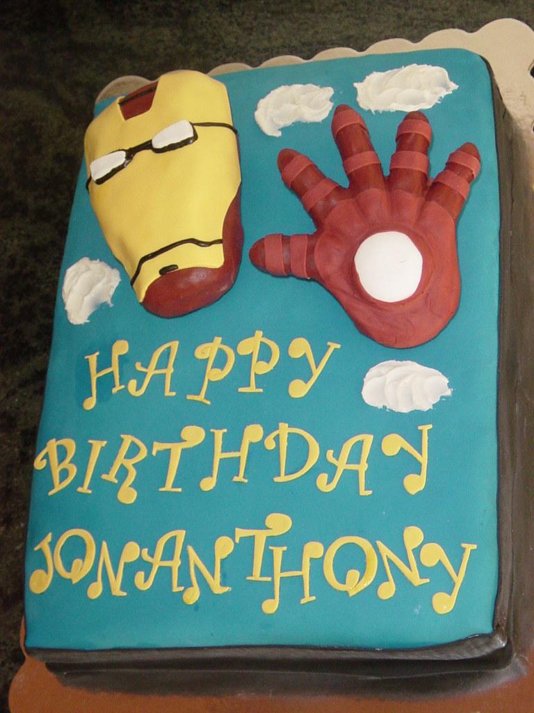 Marvelous Iron Man Cake Birthday Cake Of Iron Man With Some Sky And Flickr Personalised Birthday Cards Akebfashionlily Jamesorg