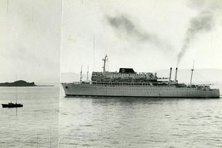 """SS """"Argentina"""" ved Munkholmen (1964)"""