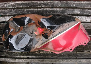 GSX550 Fuel Tank After Accident | by Watt_Dabney