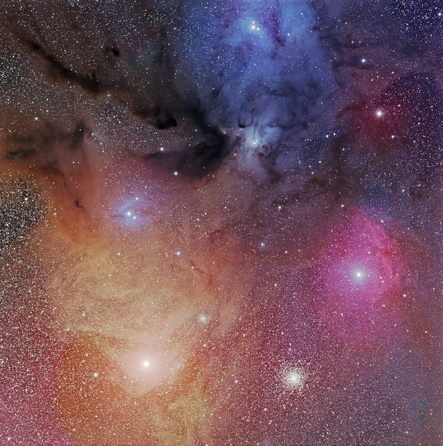 Rho Ophiuchus with Antares and M4