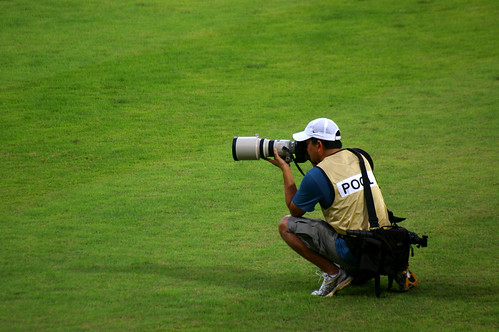 Photographer on the field. | by julie.froo