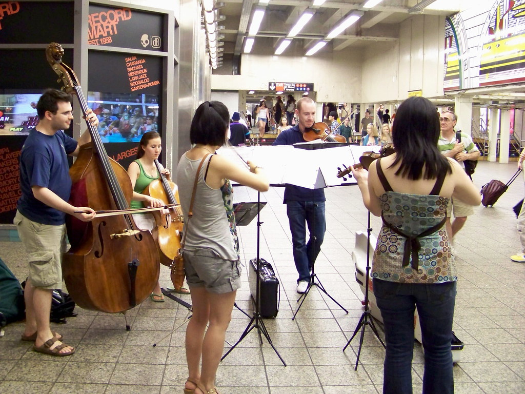 Subway symphony |    playing Alegretto from the Palladio sui