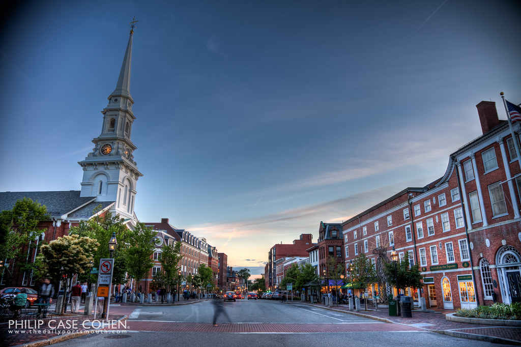 At Dusk in Market Square by Philip Case Cohen