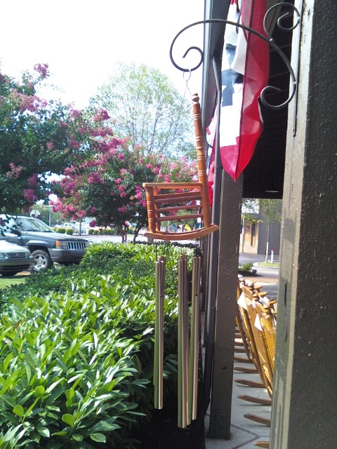 Rocking Chair Wind Chimes At Cracker Barrel A Photo On