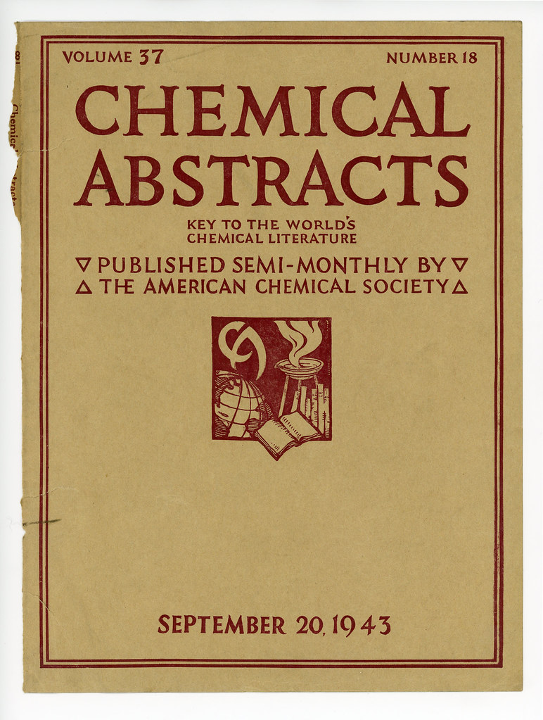 Chemical Abstracts Cover: Volume 37 Number 18 from Septemb…   Flickr