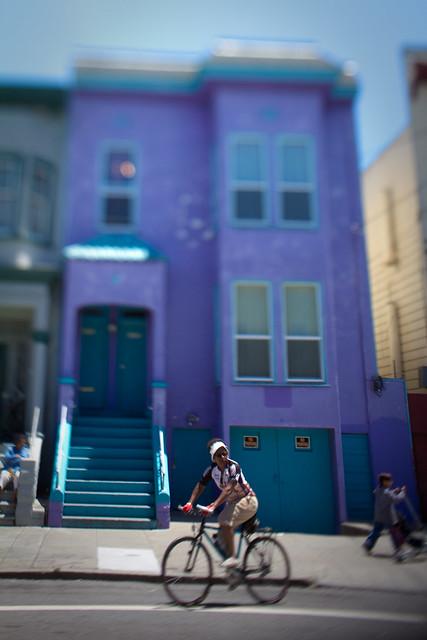 sunday streets: precarious purple