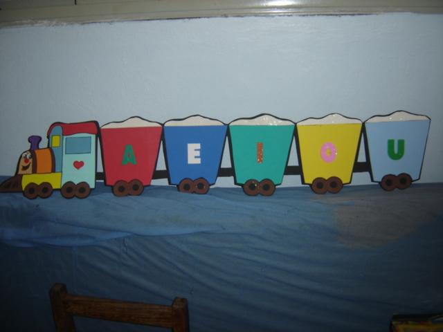 Trenzinho de Vogais | Para sala de aula ou quartinho infanti ...