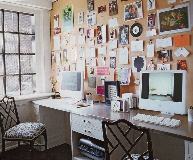 Marvelous Desk Corkboard Wall Elle Decor The Estate Of Things Flickr Ibusinesslaw Wood Chair Design Ideas Ibusinesslaworg