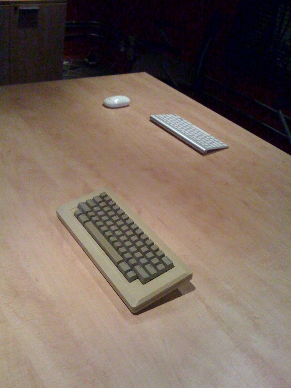 Two Keyboards and a Mouse