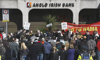 Protest against bailout of Anglo Irish Bank | by Joe Higgins.eu