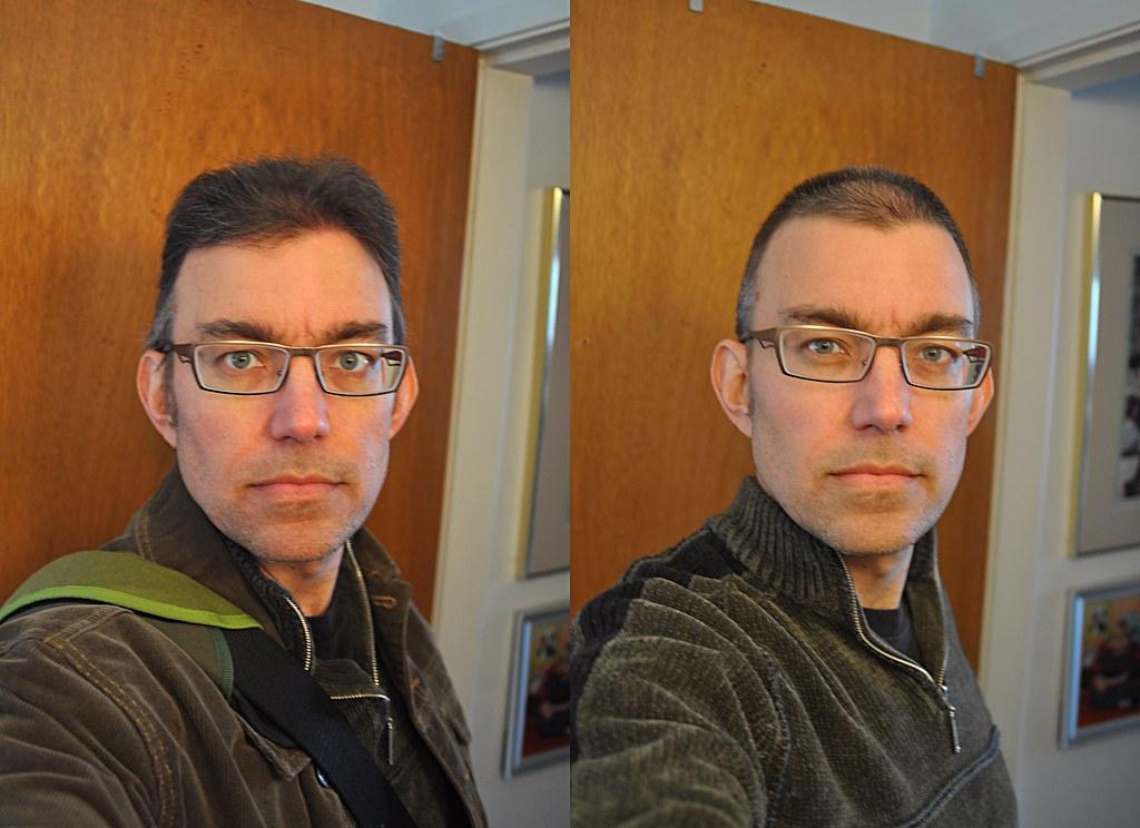 Buzz cut before and after | Derek K. Miller (1969-2011) | Flickr