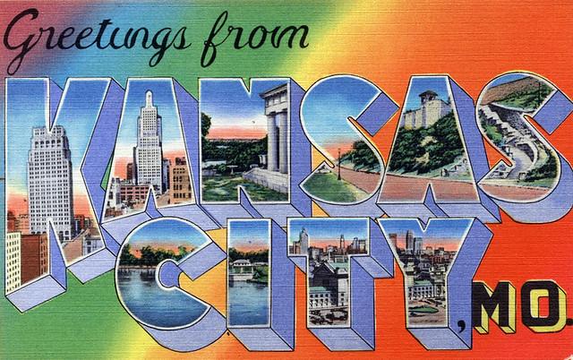 Greetings from Kansas City, Missouri - Large Letter Postcard