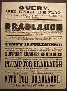 Poster: Election Poster for Charles Bradlaugh
