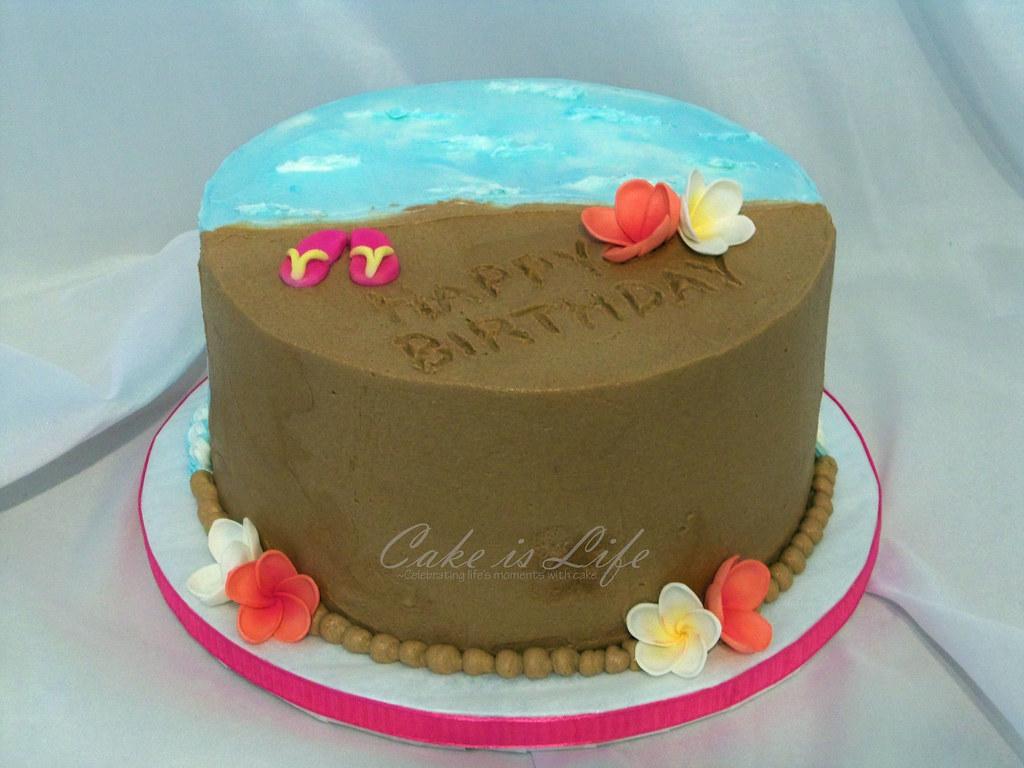Beach Birthday Cake 05 2010 This Cake Was Strawberry