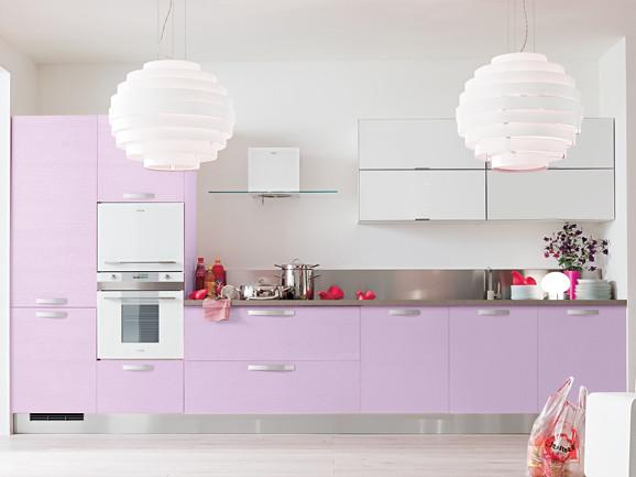 Cucina Moderna Lilla.Cucina In Frassino Lilla Cucina Lineare Moderna L 390 Cm A
