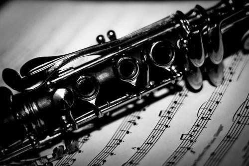 Clarinet Over Sheet Music | by Tim Swinson | http://timswinson.com
