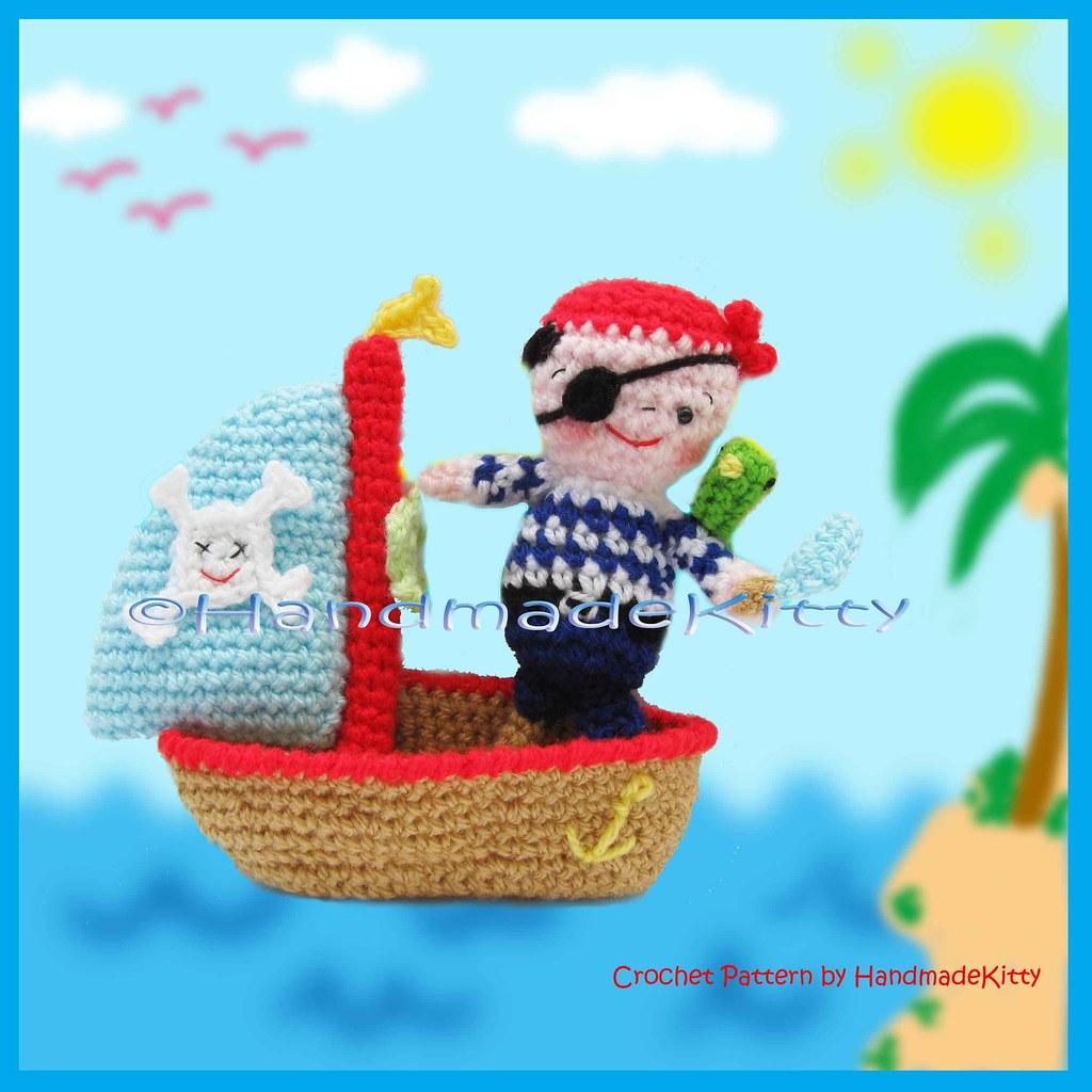 Crochet Boat Amigurumi Free Pattern - DIY Magazine | 1024x1024