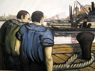 Waterfront Scene - 1934 New Deal Painting at Smithsonian American Art Museum