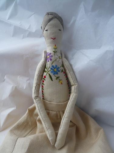 linen doll for my friend | by gentlytiptoe