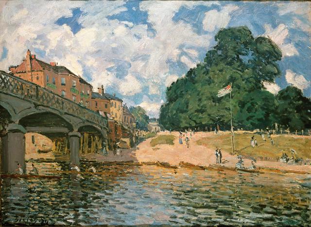 Alfred Sisley: Bridge at Hampton Court (1874)