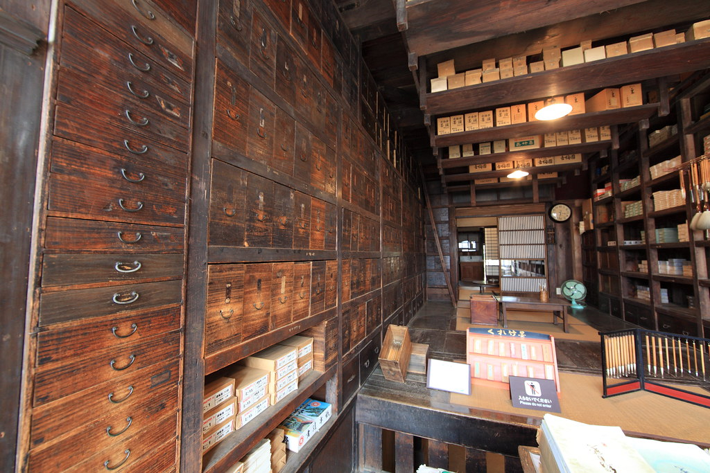 Japanese old style stationery shop