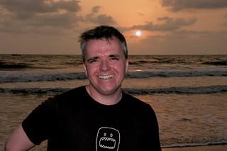 Jon on the beach in Benaulim | by ciamabue