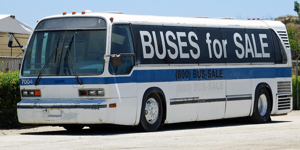 Buses for Sale | RTS bus in front of Transit Sales Internati