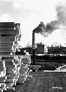 Sawmill in operation. / Scierie en service