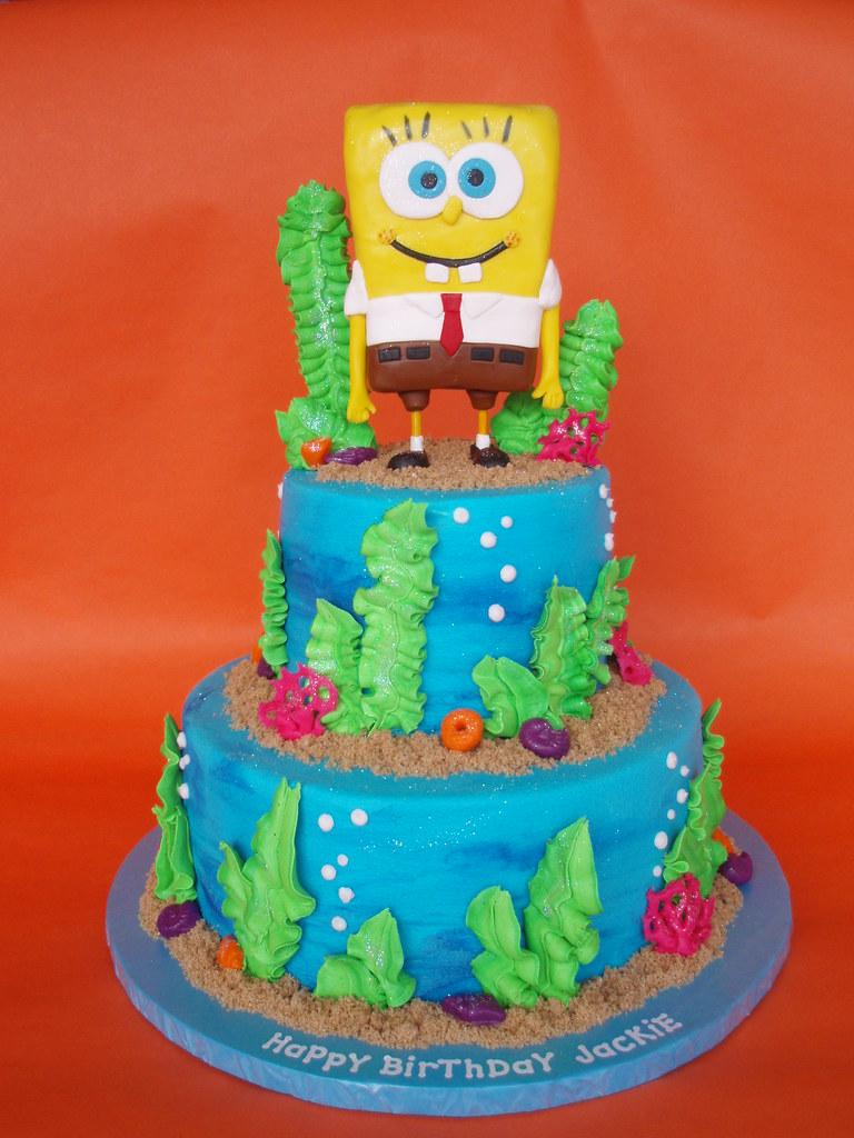 Amazing Spongebob Birthday Cake I Love This Cake Spongebob Made O Flickr Funny Birthday Cards Online Fluifree Goldxyz