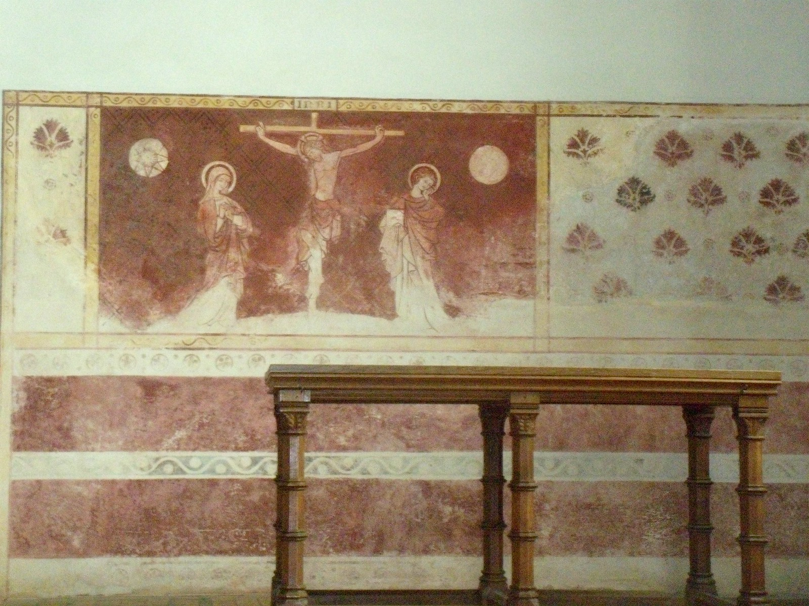 Medieval wall painting (retouched) Dorchester Abbey, Appleford Circular