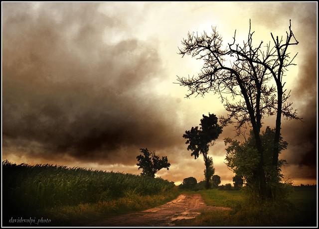 Paesaggi padani - Cielo da tempesta