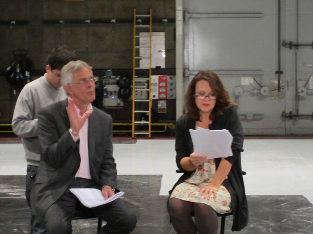 Philip Bretherton and Moira Brooker at script readthrough 1